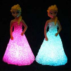 Fresh Deals Garden & Outdoor Kids Toy LED Crystal Elsa Night Lights Lamp