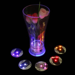 Fresh Deals Garden & Outdoor LED Coaster Flashing Light Bulb Bottle Cup Party At Home