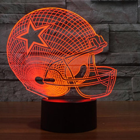 Fresh Deals Garden & Outdoor Orange / Custom Remote style 3D LED Remote Control  Baseball Cap Desk Night Light Lamp