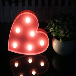 Fresh Deals Garden & Outdoor Romantic Love Heart Marquee Letter Night Light