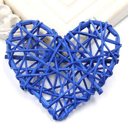 Fresh Deals Garden & Outdoor Royal Blue Heart Spake Tarawa Rattan Ball Home Garden Decoration