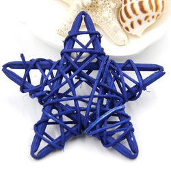 Fresh Deals Garden & Outdoor Royal Blue Rattan Star Spake Rattan Ball Tarawa Birthday Decorations