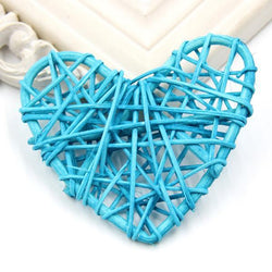 Fresh Deals Garden & Outdoor Sky Blue Heart Spake Tarawa Rattan Ball Home Garden Decoration