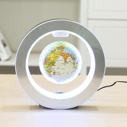 Fresh Deals Garden & Outdoor white ball Magnetic Floating Globe World Map with LED Light