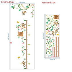 Fresh Deals Home & Living 101 Playing Monkeys Butterfly Garden Height Measure Wall Stickers