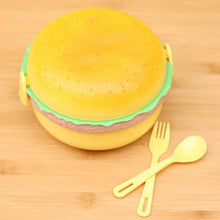 Fresh Deals Home & Living 3 Layer Cute Hamburger Shape Lunchbox For Kids