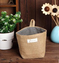Fresh Deals Home & Living 3 Non Storage Sack Cloth Hanging Soft Basket Storage Bags
