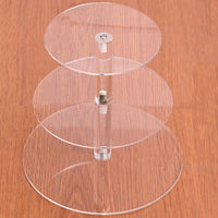 Fresh Deals Home & Living 3 tiers Transparent Birthday Party Wedding Cake Stand Holder Rack