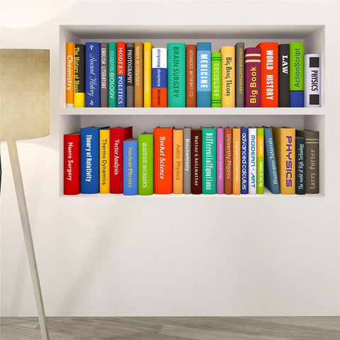 Fresh Deals Home & Living 3D Book Bookshelf Wall Stickers For Study Room