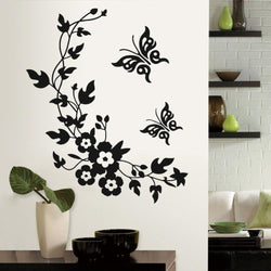 Fresh Deals Home & Living 3D Flowers and Vine Butterfly Wall Sticker