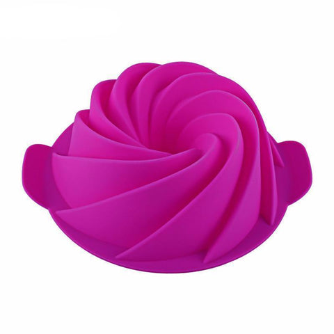 Fresh Deals Home & Living 3D Large Spiral Sugar Fonda Cake Mold Kitchen Tools