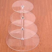 Fresh Deals Home & Living 4 tiers Transparent Birthday Party Wedding Cake Stand Holder Rack