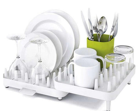 Fresh Deals Home & Living Adjustable Dishes Rack Draining Tableware Storage Holder