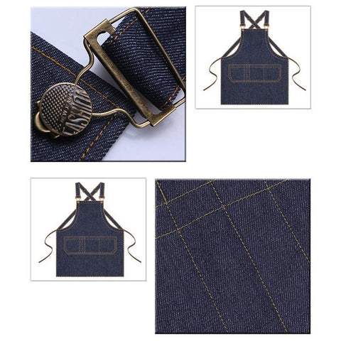 Fresh Deals Home & Living Adjustable Sleeveless Denim Durable Cooking Aprons