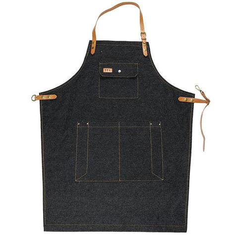 Fresh Deals Home & Living Adjustable Sleeveless Denim Restaurant Cafe Apron