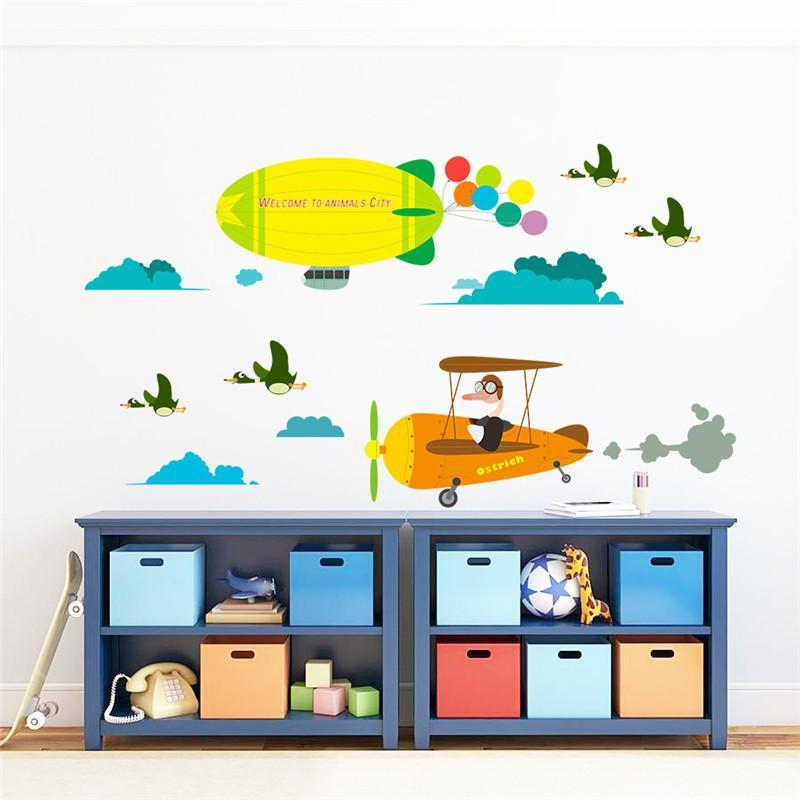 Aircraft Balloon Wall Decal Art Stickers For Kids Rooms Fresh Deals