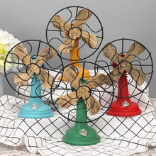 Fresh Deals Home & Living Antique Iron Resin Fans Craft Model Decoration Furnishing