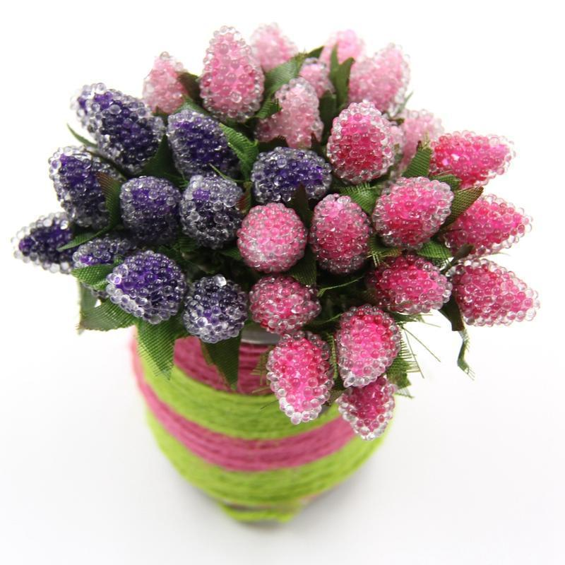 Artificial Fruits Strawberry Flowers Wedding Party Decoration ...