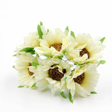 Fresh Deals Home & Living Beige Artificial DIY Sunflower Bouquet Party Wedding Decoration