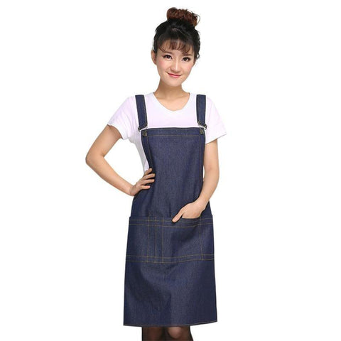 Fresh Deals Home & Living Blue Adjustable Sleeveless Denim Durable Cooking Aprons