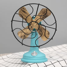 Fresh Deals Home & Living Blue Antique Iron Resin Fans Craft Model Decoration Furnishing