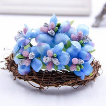 Fresh Deals Home & Living Blue Artificial Bud Berry Flower Garden Corsage Decoration