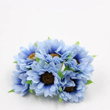 Fresh Deals Home & Living Blue Artificial DIY Sunflower Bouquet Party Wedding Decoration