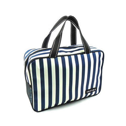 Fresh Deals Home & Living Blue Wall-mounted Stripe Oxford Fold able Organizer Storage Bag