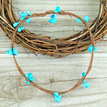 Fresh Deals Home & Living Bright blue Artificial Flower Wreath Branches Wedding Decoration
