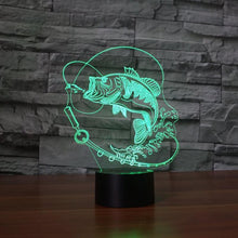 Fresh Deals Home & Living Color Changing Fish LED USB Night Light Touch Button Desk Lamp