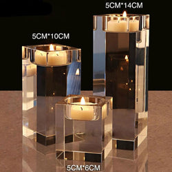 Fresh Deals Home & Living Crystal Candle Holders Small Tealight Candlestick
