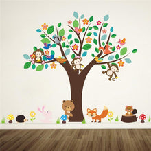Fresh Deals Home & Living Cute Animal On Tree Wall  Sticker Living Room Decor