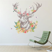 Fresh Deals Home & Living Deer Bird Vintage Colorful Flower Rooms Walls Stickers