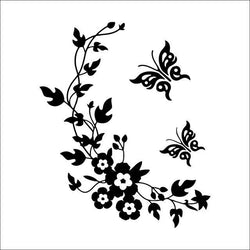 Fresh Deals Home & Living Default Title 3D Flowers and Vine Butterfly Wall Sticker