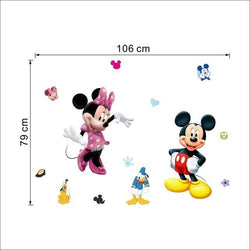 Fresh Deals Home & Living Default Title Mickey and Mini Cartoon Wall Stickers For Children Room