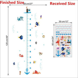 Fresh Deals Home & Living Default Title Nemo Fish Height Measure Chart Wall Stickers