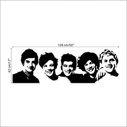Fresh Deals Home & Living Default Title One Direction Wall Sticker Bedroom Living Home Decoration