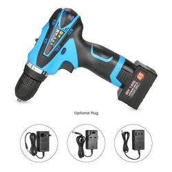 Fresh Deals Home & Living EU LED Electric Battery Drill Machine Two-speed Power Tools