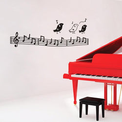 Fresh Deals Home & Living Fashion Birds Listen To Music Notation Wall Stickers
