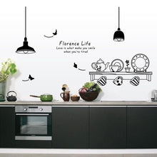 Fresh Deals Home & Living Florence Life Tea Cup Cupboard Kitchen Wall Stickers