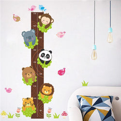 Fresh Deals Home & Living Forest Animals Lion Monkey Panda Growth Chart Wall Decals