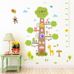 Fresh Deals Home & Living Forest Animals Tree House Height Wall Stickers