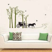 Fresh Deals Home & Living Forest Tree Bird Horse Carriage Wall Stickers Bedroom