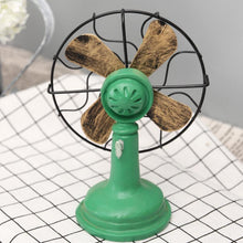 Fresh Deals Home & Living Green Antique Iron Resin Fans Craft Model Decoration Furnishing