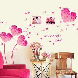 Fresh Deals Home & Living Heart Shaped Flower Wall Stickers For Home Decoration