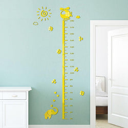 Fresh Deals Home & Living Home Decor Living Room Height Measure 3D Wall Stickers
