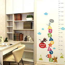 Fresh Deals Home & Living Kids Cat Mouse Dog Cheer Up Cartoon Height Wall Sticker
