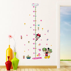 Fresh Deals Home & Living Kids Minnie Mickey Cartoon Flower Growth Chart Wall Stickers