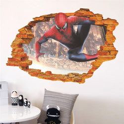 Fresh Deals Home & Living L 3d Effect Spider Man Wall Sticker For Kids Rooms