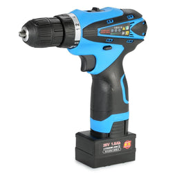 Fresh Deals Home & Living LED Electric Battery Drill Machine Two-speed Power Tools